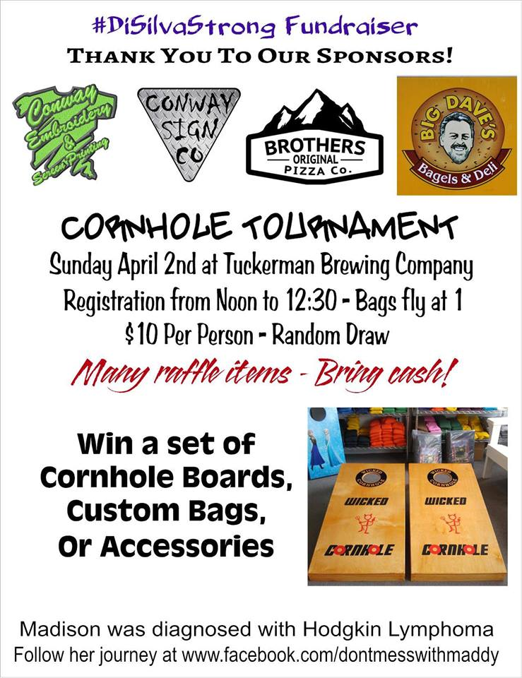 Corn Hole Tournament Fundraiser Brew NH